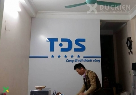 Backdrop lễ tân TDS