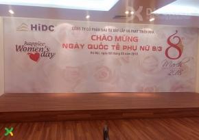Backdrop sân khấu mừng 8-3 công ty HiDC