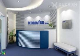 Backdrop công ty Komatsu