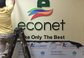 Backdrop lễ tân Econet