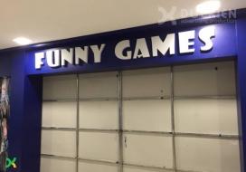 Biển alu chữ nổi Funny Games