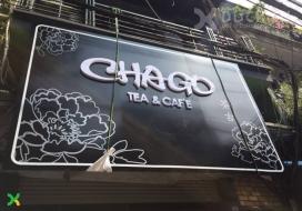 Biển alu chữ nổi và decal Chago