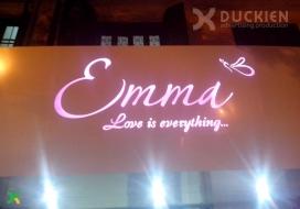 Biển alu đèn âm bản Emma