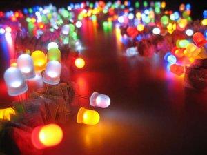 Bóng đèn led khi phát sáng