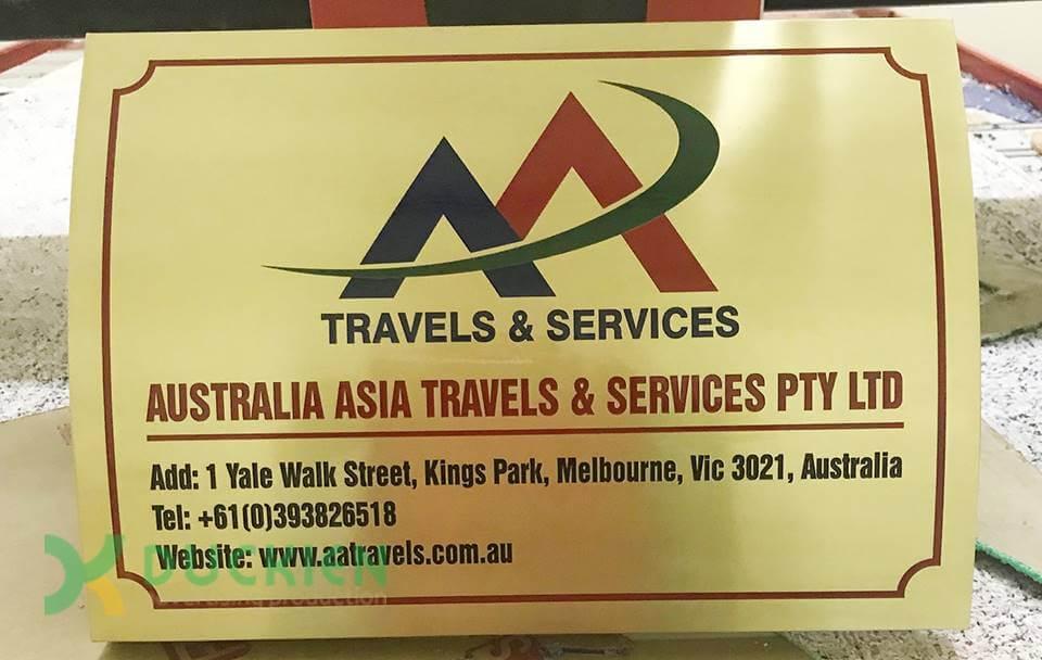 Biển đồng ăn mòn gửi sang Úc