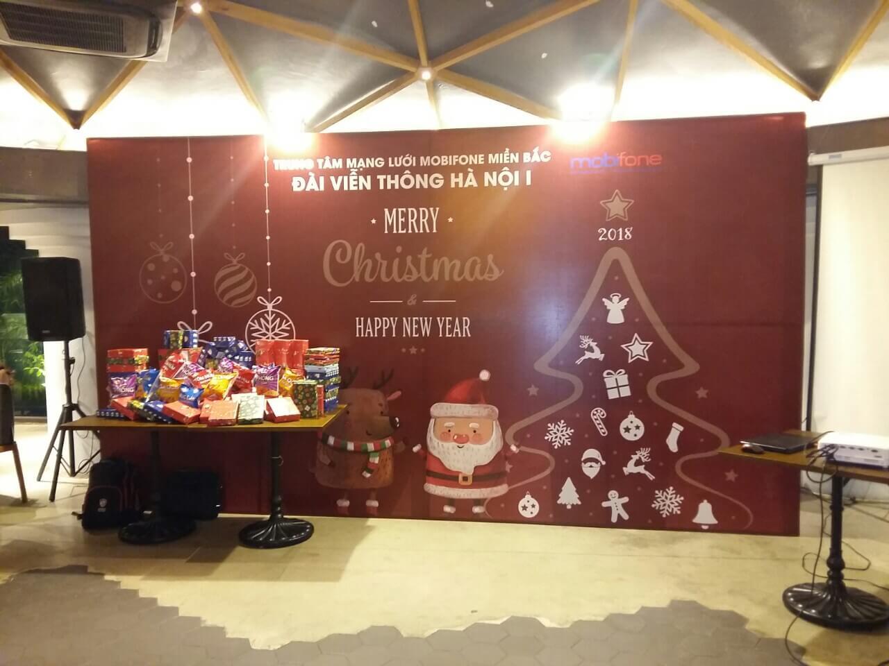 Backdrop cho một sự kiện Giáng sinh