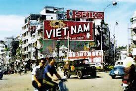Biển quảng cáo của thương hiệu Seiko