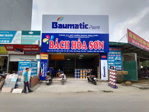 Biển quảng cáo cửa hàng sơn tại Hà Đông