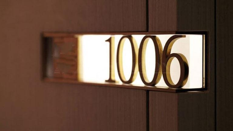 Biển số phòng khách sạn, chung cư