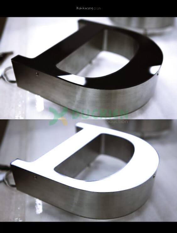 Inox dùng để sản xuất chữ nổi quảng cáo