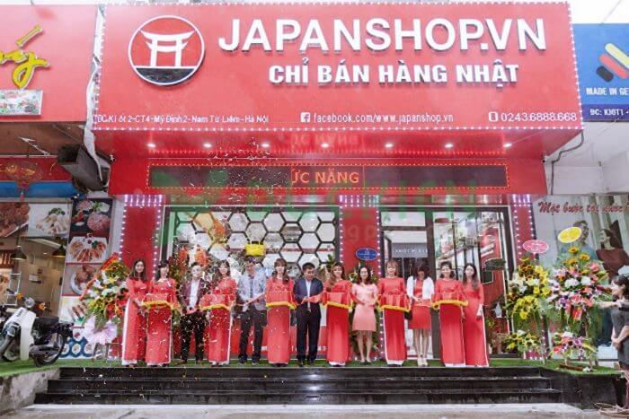 Biển quảng cáo shop hàng Nhật tại Mỹ Đình 2, Nam Từ Liêm