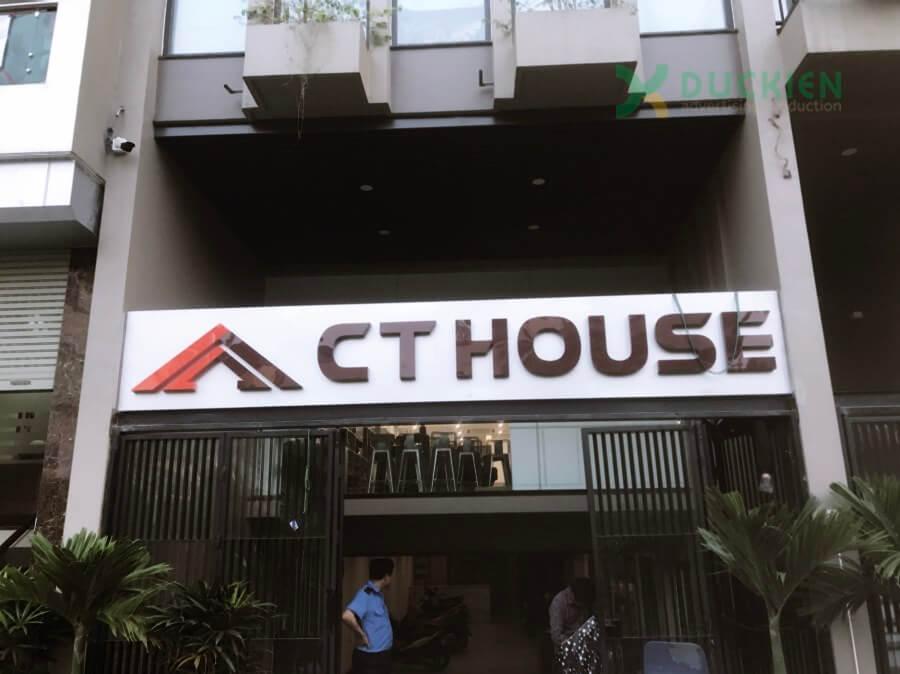 Biển mặt tiền CT House