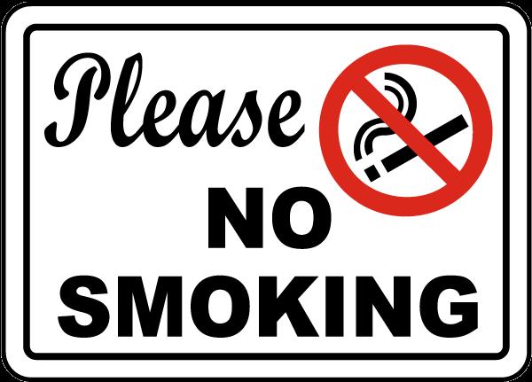 Biển cấm hút thuốc đơn giản