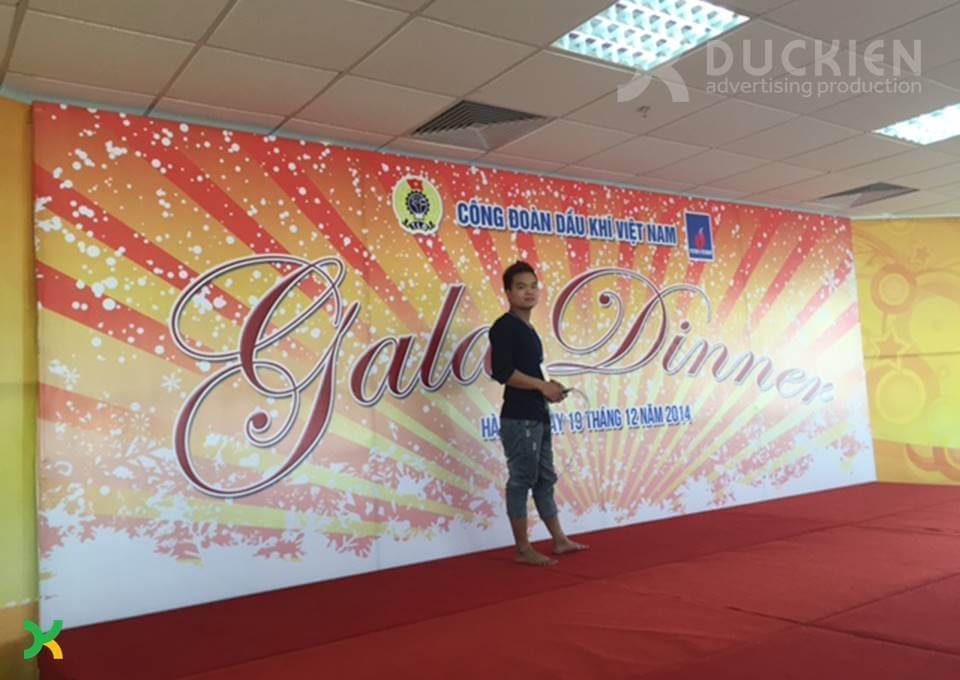Backdrop cho sự kiện Gala Dinner của Công đoàn Dầu khí Việt Nam năm 2014