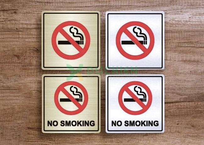 Mẫu biển cấm thuốc lá đơn giản và phổ biến nhất
