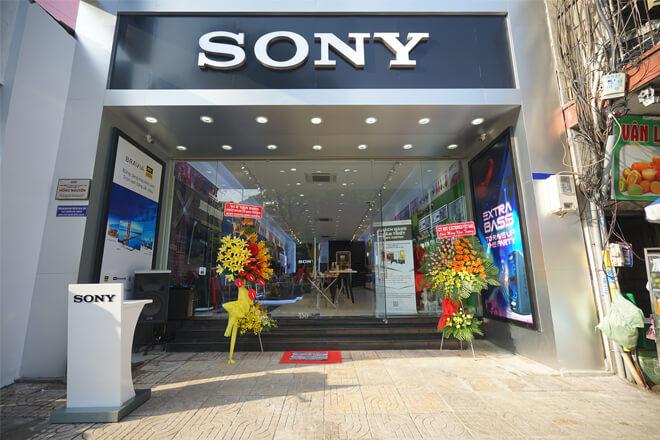 Biển quảng cáo Sony tại Hai Bà Trưng