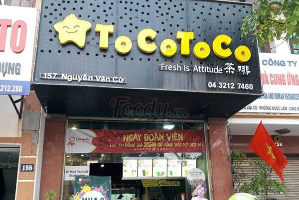 Biển quảng cáo trà sữa TocoToco bằng alu và mica