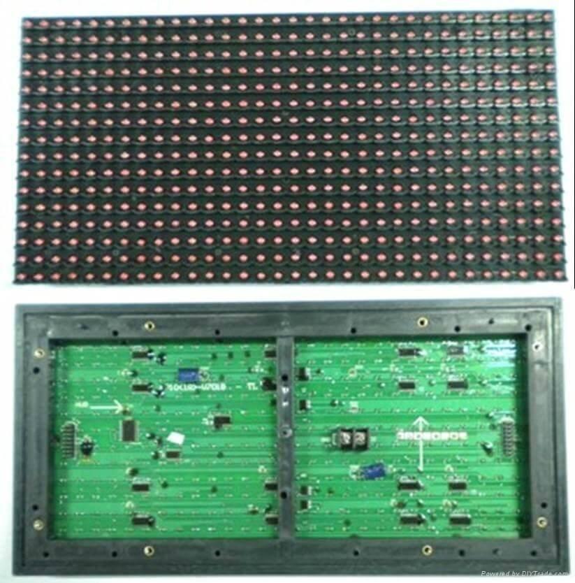 Cấu tạo module LED P10 điển hình (16x32)