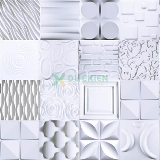 Các họa tiết tấm ốp 3D màu trắng phù hợp hơn cả cho backdrop lễ tân