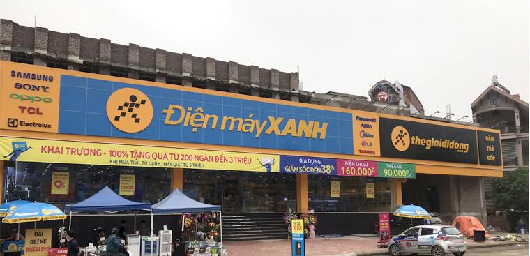 Biển quảng cáo siêu thị Điện máy Xanh tại Ngọc Hồi, Thanh Trì