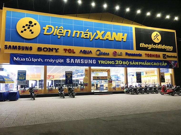 Biển quảng cáo của siêu thị Điện Máy Xanh