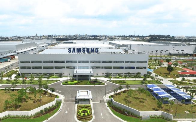 Bộ chữ quảng cáo Samsung tại nhà máy Samsung Bắc Ninh
