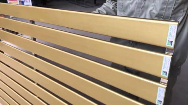 Thanh lam tôn định hình trơn màu vàng đậm