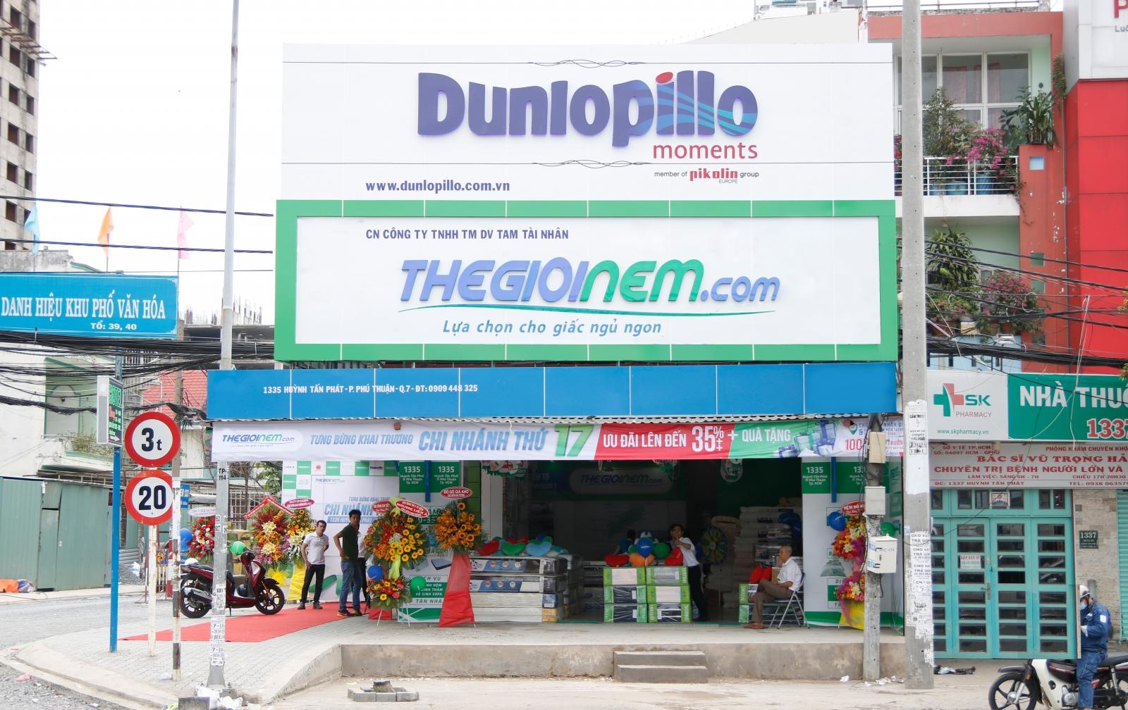 Biển quảng cáo theo nhận diện thương hiệu của Thegioinem.com