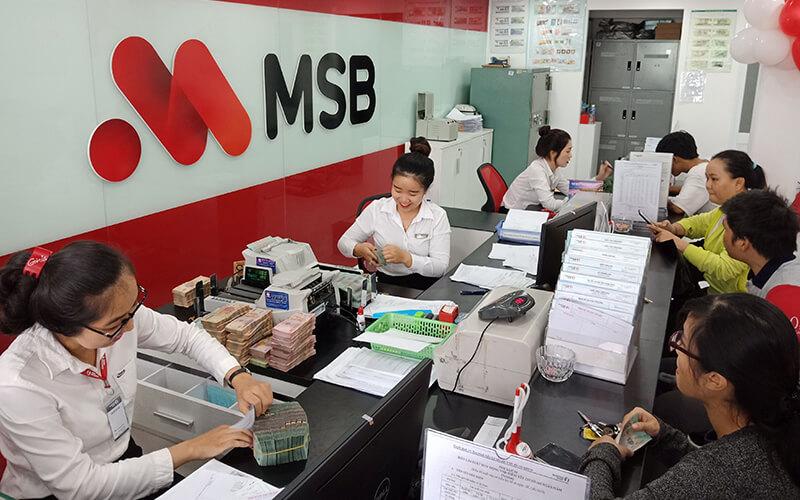 Backdrop lễ tân ngân hàng MSB